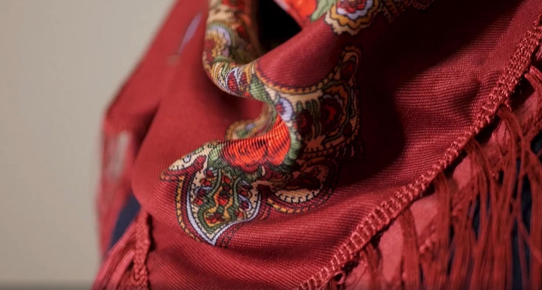Ikone der Gottesmutter von Kasan + Kopftuch
