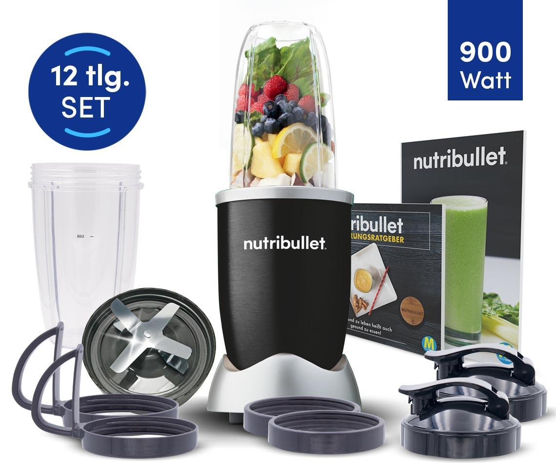 NutriBullet® PRO 900W Schwarz 12tlg.