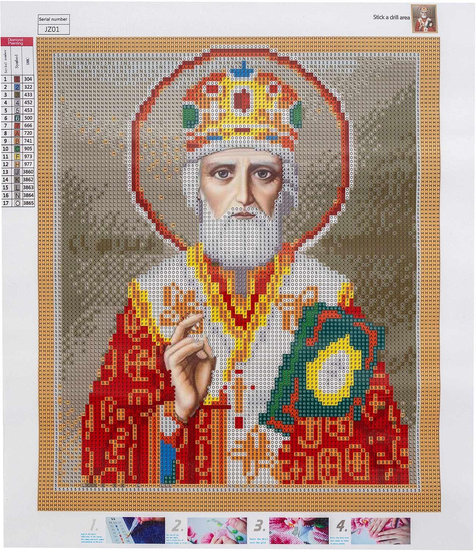 Diamant Mosaik Ikone Saint Nicholas