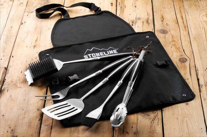 STONELINE Grillbesteck-Set 6tlg