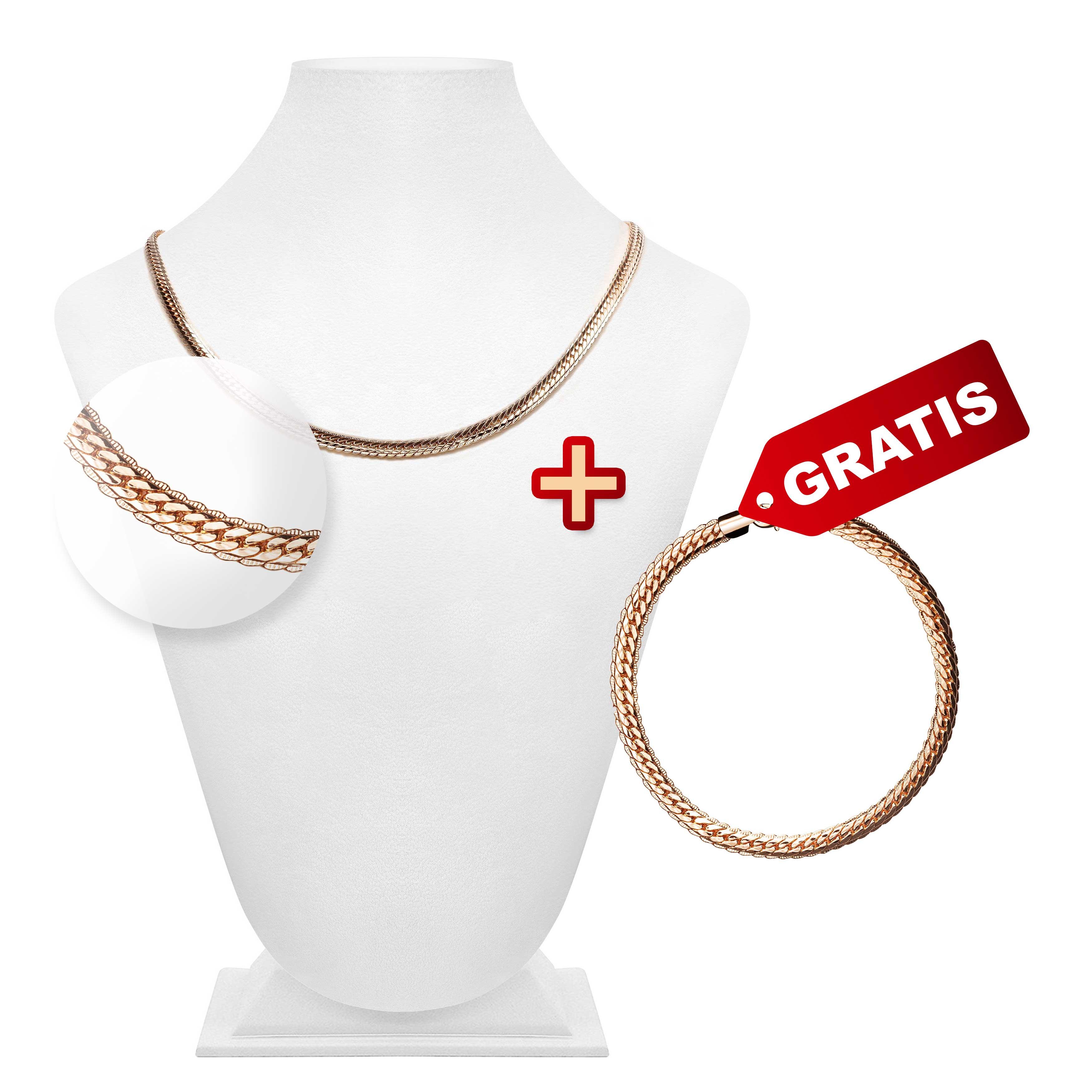 "Damenschmuck Set ""Cobra"": Kette + Armband GRATIS"