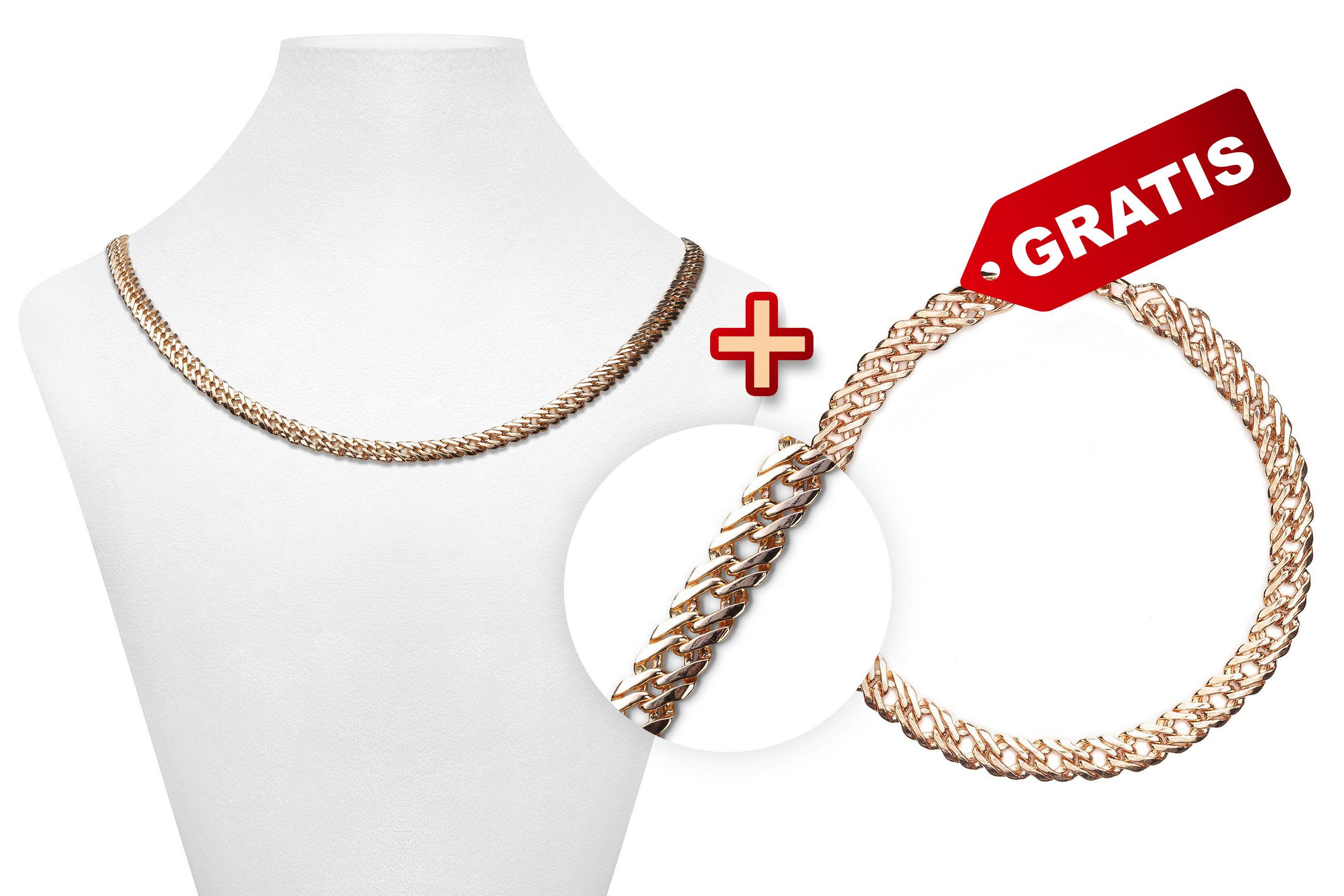 """Herrenschmuck Set """"Zeus"""": Kette + Armband GRATIS"""